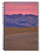Dawn At Mesquite Flat #3 - Death Valley Spiral Notebook