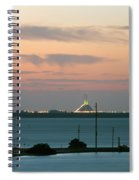 Dawn At The Sunshine Skyway Bridge Viewed From Tierra Verde Florida Spiral Notebook