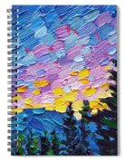 Dawn Behind The Mountains Spiral Notebook
