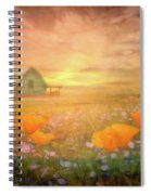 Dawn Blessings On The Farm Spiral Notebook