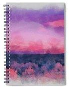 Dawn In Taos In Aquarelle Spiral Notebook