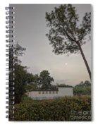 Dawn Moon Over Chinese Garden Singapore Spiral Notebook
