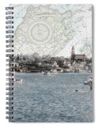 Dawn On Marblehead Harbor Spiral Notebook