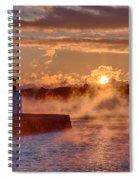 Dawn Peeking Over At Derby Lighthouse Spiral Notebook