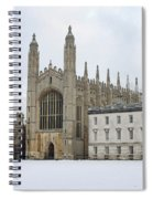 Dawn Sunshine Hit Kings College Chapel On Christmas Eve. Spiral Notebook