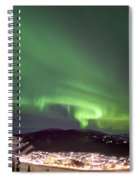 Dawson City Lights Spiral Notebook