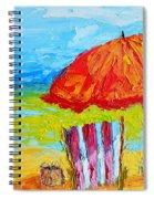 Day At The Beach - Modern Impressionist Knife Palette Oil Painting Spiral Notebook