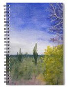 Day In Arizona Desert Spiral Notebook