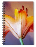 Day Lily Back Spiral Notebook