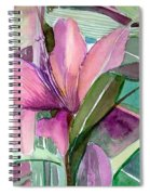 Day Lily Pink Spiral Notebook