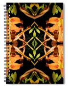 Day Lily Square Dance Spiral Notebook