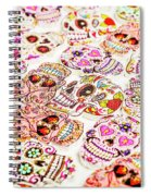 Day Of The Dead Colors Spiral Notebook