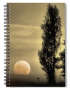 Daybreak On A Country Road Spiral Notebook