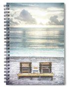 Daydreaming By The Sea In Watercolors Spiral Notebook