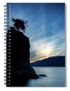 Day's End At Siwash Rock Spiral Notebook