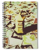 Days From The Vintage Post Office Spiral Notebook