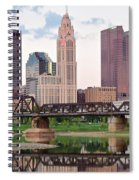 Daytime View Of Columbus Over The Scioto Spiral Notebook