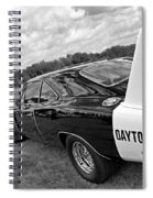 Daytona Charger In Black And White Spiral Notebook