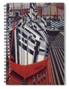 Dazzle Ships In Drydock At Liverpool Spiral Notebook