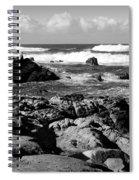Dazzling Monterey Bay B And W Spiral Notebook