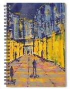 Dc City Center Lights Spiral Notebook