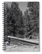 Ddp Djd B And W 1880's Cabin Ruins In Montana 3 Spiral Notebook