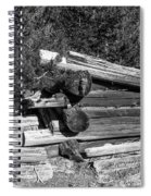 Ddp Djd B And W 1880s Log Cabin Ruins Montana 2 Spiral Notebook