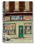 De Bullion Street In  Winter Montreal Spiral Notebook