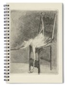 Dead Flamingo With The Legs Tied To The Handrail Of A Chair, Adriaan Pit, 1870 - 1896 Spiral Notebook