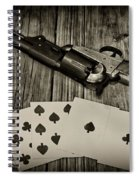 Dead Mans Hand Black And White Spiral Notebook