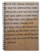 Dead Sea Scroll Document Spiral Notebook