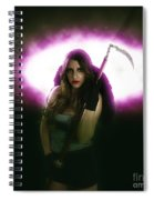 Death Carrying Scythe Spiral Notebook