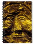 Death Mask Spiral Notebook