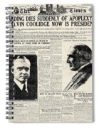 Death Of Harding, 1923 Spiral Notebook