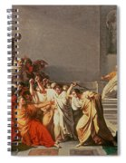 Death Of Julius Caesar Spiral Notebook