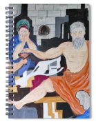 Death Of Socrates Spiral Notebook