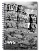Death On Notom-bullfrog Road - Capitol Reef - Bw Spiral Notebook