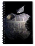 Death Star Apple Spiral Notebook
