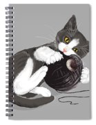 Death Star Kitty Spiral Notebook