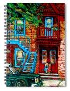 Debullion Street Neighbors Spiral Notebook