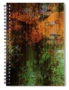 Decadent Urban Brick Green Orange Grunge Abstract Spiral Notebook