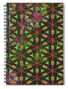 Decadent Urban Orange Green Patterned Abstract Design Spiral Notebook