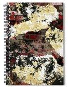 Decadent Urban Red Bricks Painted Grunge Abstract Spiral Notebook