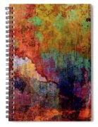 Decadent Urban Red Wall Grunge Abstract Spiral Notebook