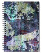 Decadent Urban White Splashed Bricks Grunge Abstract Spiral Notebook