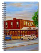 Decarie  Tasty  Food  Pizza Spiral Notebook