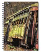 Decaying Trolley Cars Spiral Notebook