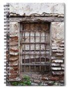 Decaying Wall And Window Antigua Guatemala 3 Spiral Notebook
