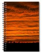 December Nebraska Sunset 002 Spiral Notebook