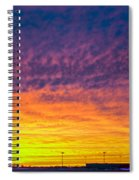 December Nebraska Sunset 003 Spiral Notebook